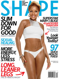 Mary J. Blige -Shape Magazine Cover