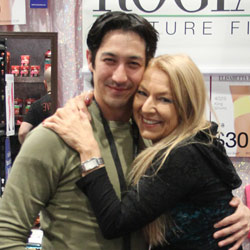Elisabetta with Chris at Rogiani booth