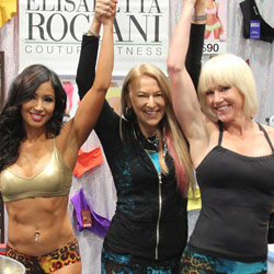 Elisabetta with Dawn & Christine at Olympia Booth